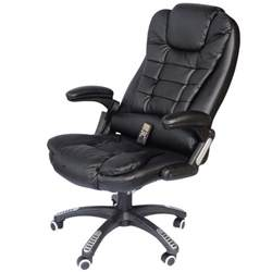 Heated Office Chair Executive Ergonomic Heated Vibrating Computer Desk Office