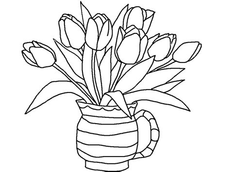 printable tulip coloring pages  kids