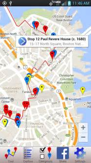 Boston Freedom Trail Map by Printable Freedom Trail Boston Map Motorcycle Review And