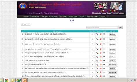 membuat database ujian online download source code aplikasi ujian online dengan php