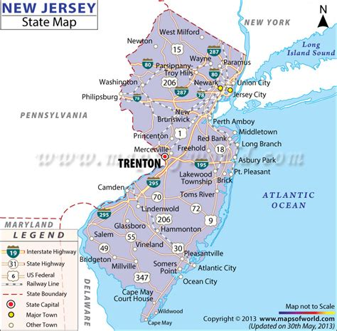 map us new usa state map new jersey at maps