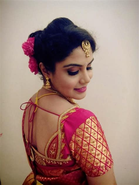 short hair blouse models indian bride s bridal reception hairstyle by swank studio