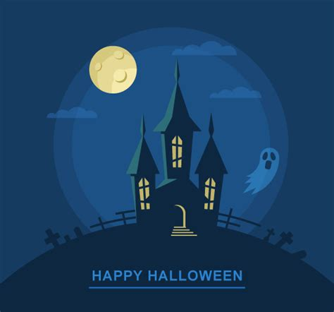 tutorial illustrator halloween create a bootiful haunted house halloween vector