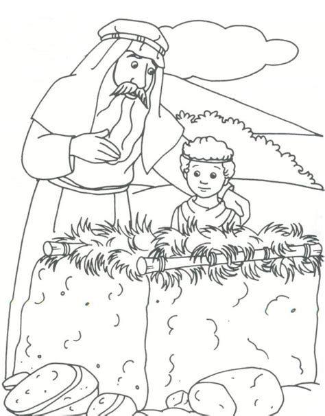 bible story coloring pages bible story abraham coloring pages for drawing