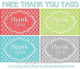 Free Printable Thank You Tags Template by My Computer Is My Canvas Freebie Printable Thank You Tags
