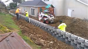 drainage backfill retaining wall construction benicia ca time lapse youtube