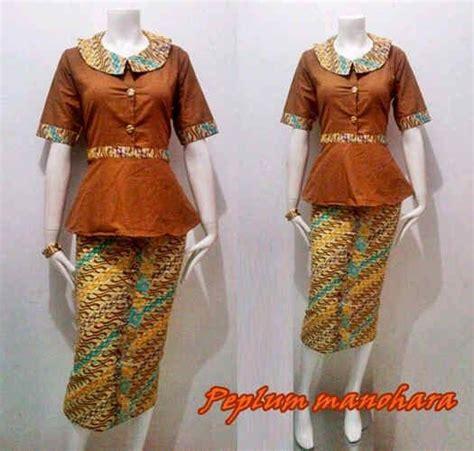 Atasan Wanita Batik Peplum Top Ff0652 27 best fashion inspiration images on kebaya batik dress and batik fashion