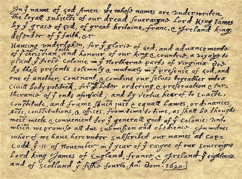 Mayflower Compact Essay by The History Place American Revolution Mayflower Compact