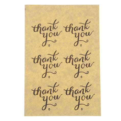 Paper Tags Sticker Thank You aliexpress buy 102 pcs paper tags thank you self adhesive stickers kraft label