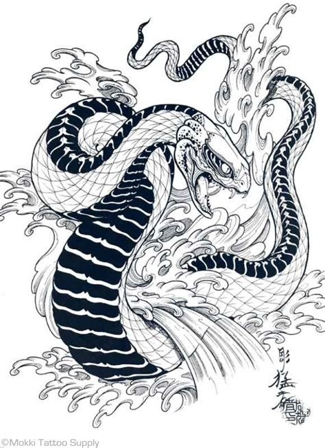 japanese snake tattoo design tigers hawks snakes by horimouja