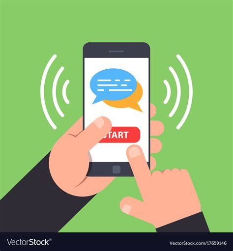 mobile chat concept of mobile chat use the phone to exchange vector image