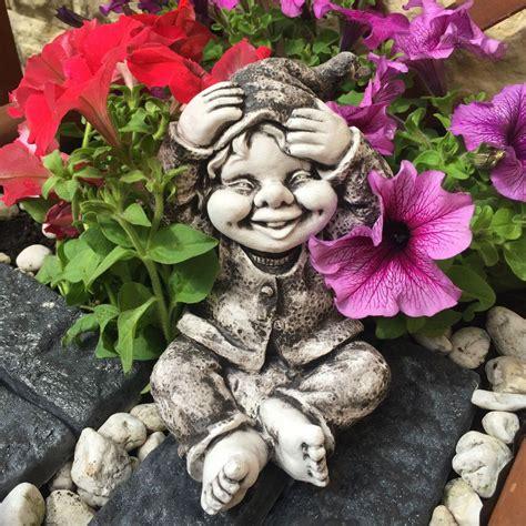 Gartendeko Wichtel by Gnom Troll Wichtel Kobold Steinfigur Gartenfigur