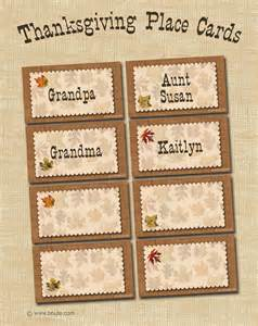 bnute productions free printable autumn place cards for thanksgiving