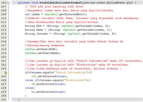 jtable netbeans tutorial pdf penggunaan komponen jtable pada netbeans giat berilmu
