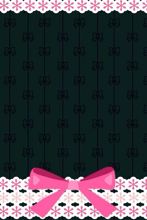 wallpaper pink bow black and hot pink bow phone wallpapers pinterest