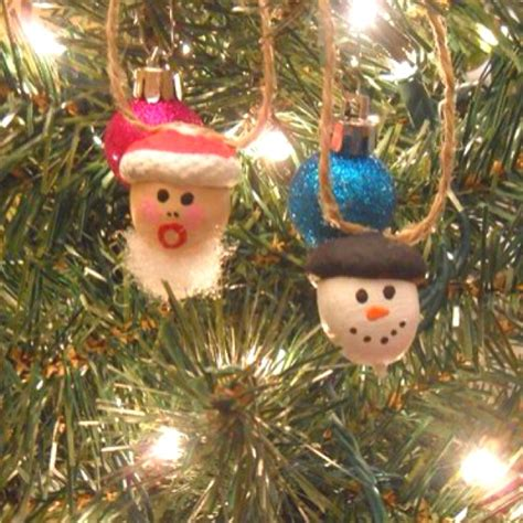 acorn crafts christmas tree ornaments made from acorns