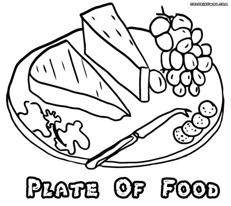 coloring page food plate plate coloring pages coloring pages to download and print