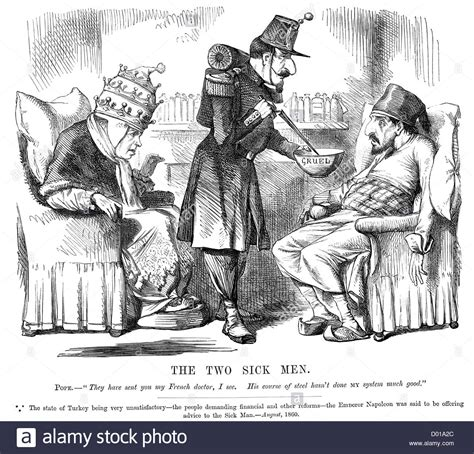 ottoman empire sick man of europe two sick men of europe political cartoon about the