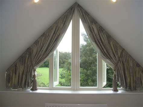 dormer window curtains curtains for triangular window decor ideas pinterest