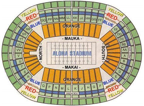 what is section 8 hawaii aloha stadium seating chart nfl pro bowl