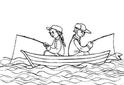 Coloring Pages Of Fishing Boats by Summertime Fishing On Boat Coloring Page
