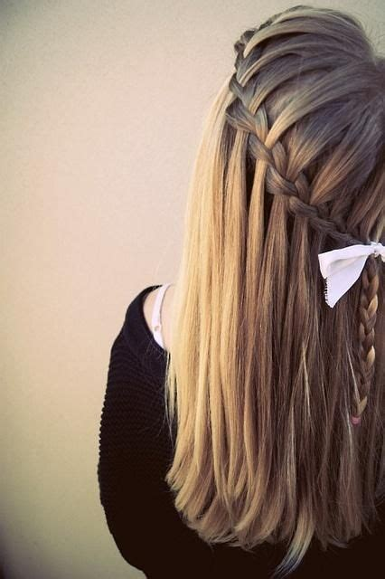 waterfall braid bun 28 diy hairstyles 28 best hairstyles images on pinterest marriage bag and