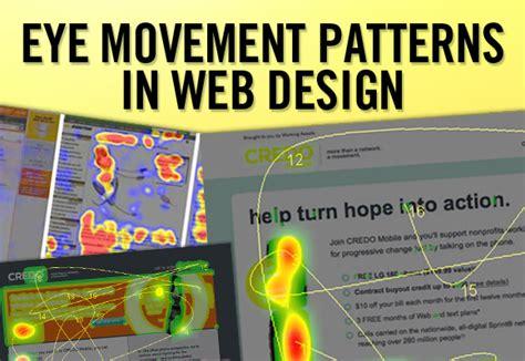 menu design eye movement eye movement patterns in web design