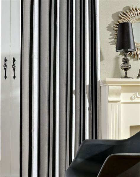 black and white striped bedroom curtains black and white striped curtains black and white extra