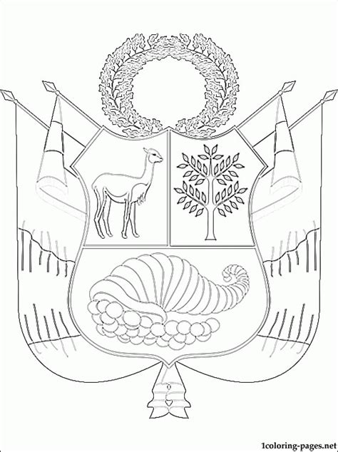 Peru Flag Coloring Page Az Coloring Pages Peru Coloring Pages