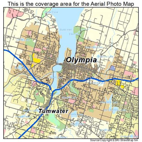 olympia washington map aerial photography map of olympia wa washington