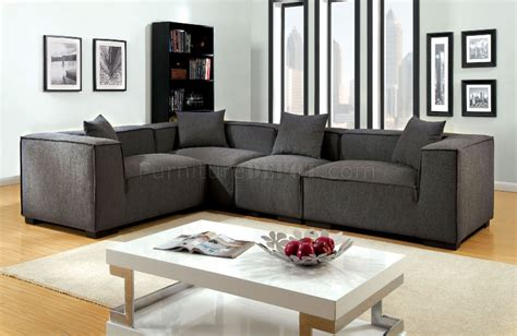 Gray Modular Sectional Sofa Langdon Sectional Sofa Cm6037gy In Gray Fabric W Options