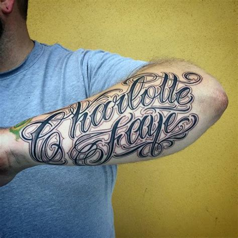name tattoos on arm for men 60 name tattoos for lettering design ideas