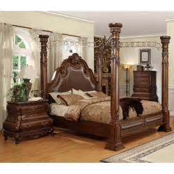 Bedroom Furniture Cherry Wood Calidonian Cherry Finished Wood Bedroom Set Dcg Stores