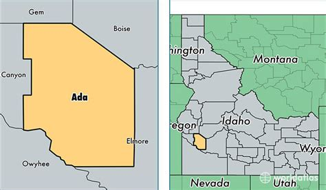 Ada County Search Map Of Ada County Idaho Map
