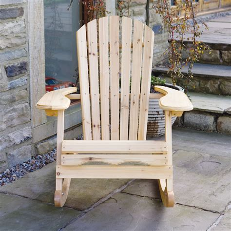 Patio Rocking Chairs Wood Garden Patio Wooden Adirondack Rocking Chair