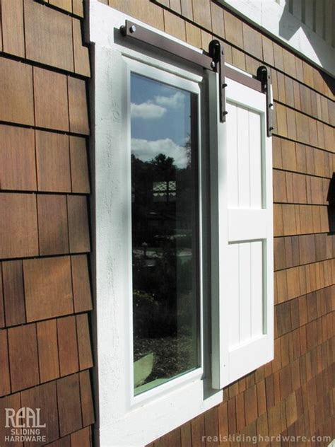 Sliding Window Shutter Traditional Exterior Other Barn Door Window Shutters