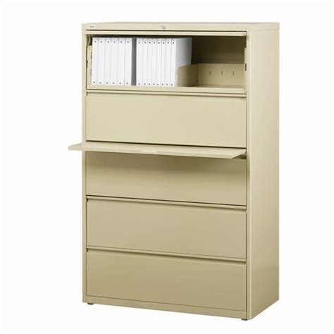 5 Drawer Lateral File Cabinet In Putty 14991 5 Drawer Lateral File Cabinets