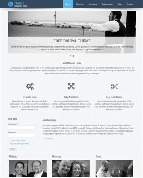 drupal theme a field 9 best 9 of the best free bootstrap drupal themes images