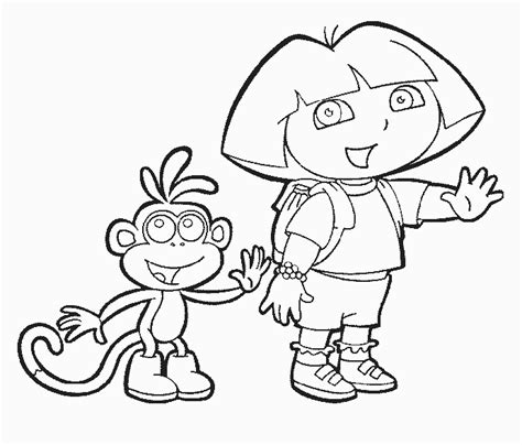 dora coloring pages free online