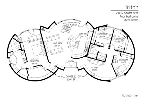 monolithic dome floor plans floor plan dl 3223 monolithic dome institute