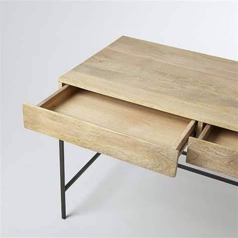 west elm industrial desk industrial storage desk west elm