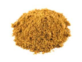 Ground cumin powder from savory spice