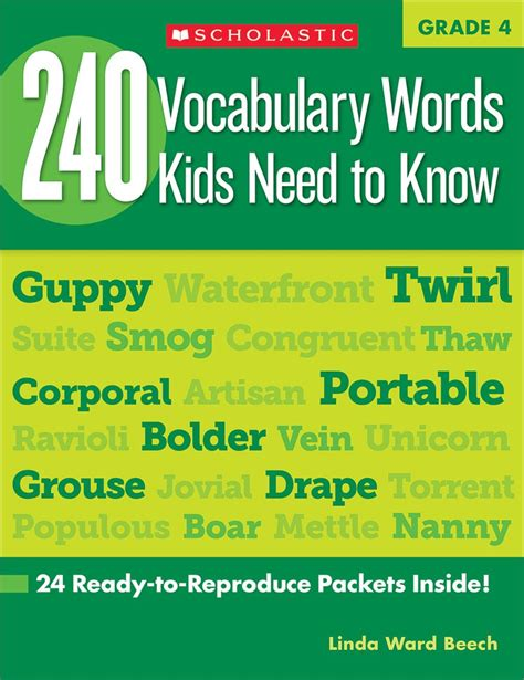 1100 words you need to books 240 vocabulary words 4th grade need to by