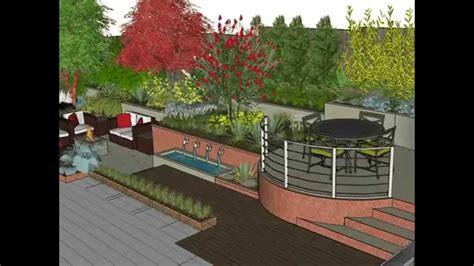 garden design sketchup animation youtube