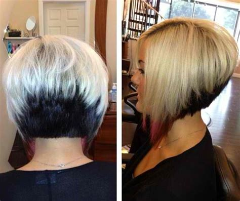 bob two tone hair color pictures for short hair 26 amazing twotone hairstyles for women pretty designs of