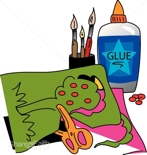 Arts And Crafts Clip by Arts And Crafts With Glue Childrens Church Clipart