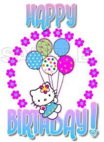 hello kitty happy birthday t shirt iron on transfer decal