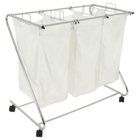 3 Compartment Laundry Her 78 X 46 X 70cm White Ebay Compartment Laundry