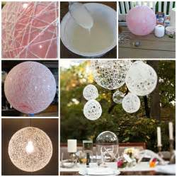 Diy Balloon Chandelier Wonderful Diy Decorative String Chandelier With Yarn And