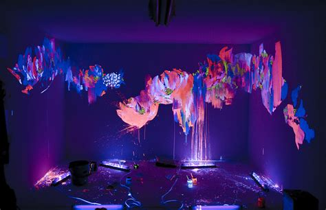 glow in the paint in room beautiful blacklight wall paint 3 glow in the paint